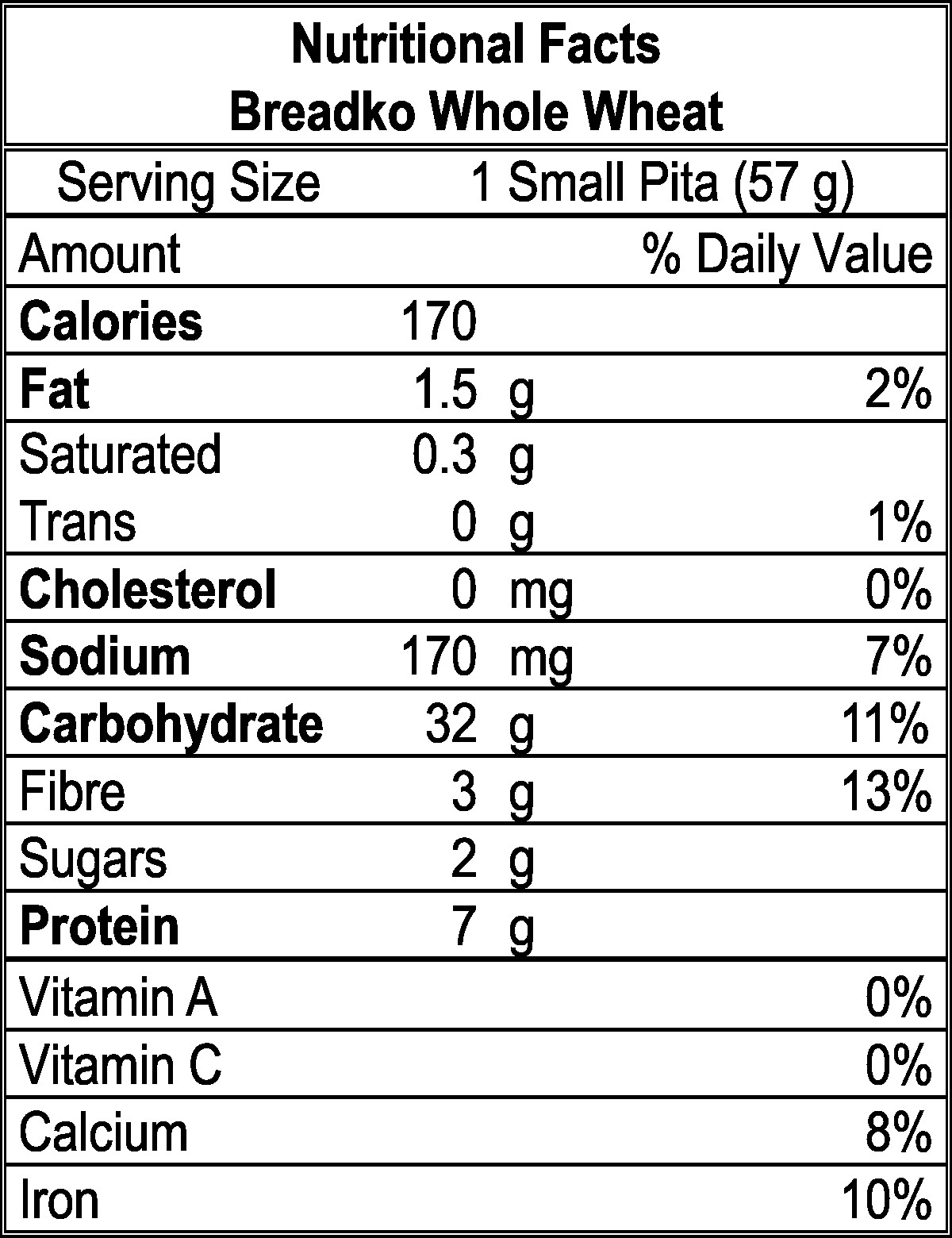 Whole Grain Bread Nutrition Facts  Whole Wheat Pita Pockets Nutrition Facts Nutrition Ftempo