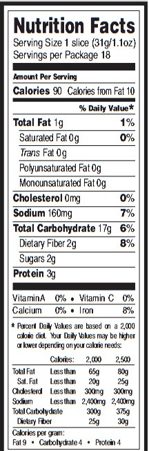 Whole Grain Bread Nutrition Facts  Whole Grain Spelt Flour Nutrition Facts Nutrition Ftempo