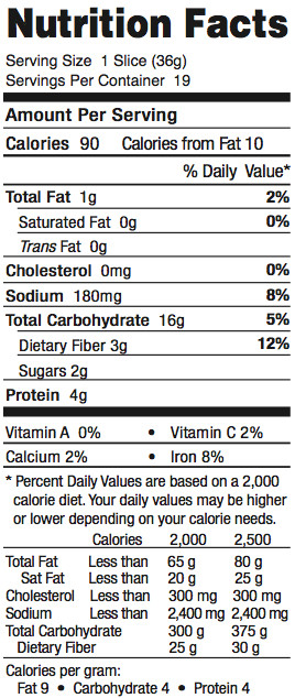 Whole Grain Bread Nutrition  wheat bread nutrition facts 1 slice