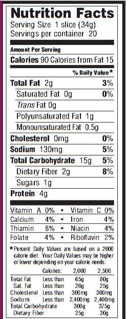 Whole Grain Bread Nutrition  whole wheat bread nutrition facts