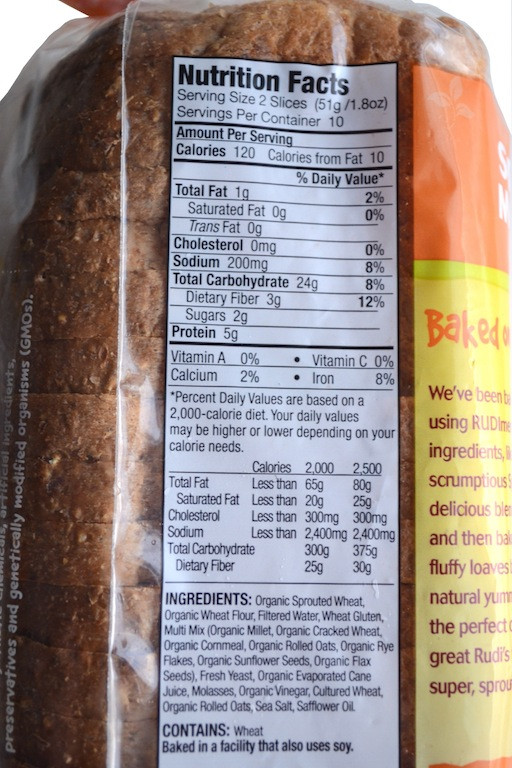 Whole Grain Bread Nutrition  nature s own wheat bread nutrition facts