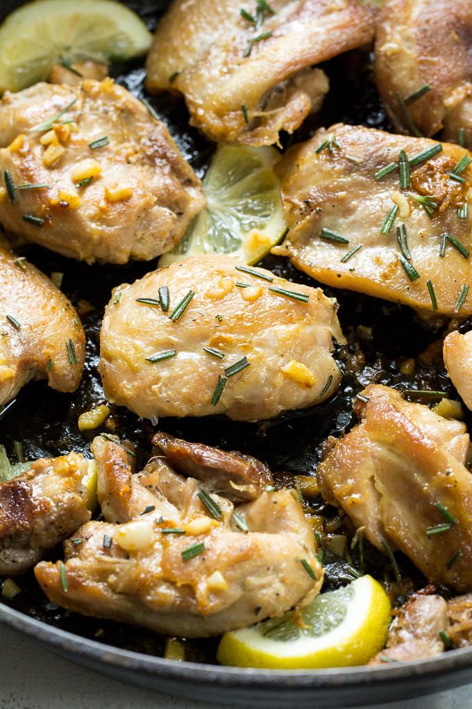 Whole30 Chicken Recipes  Easy Lemon Garlic Chicken Thighs Paleo & Whole30