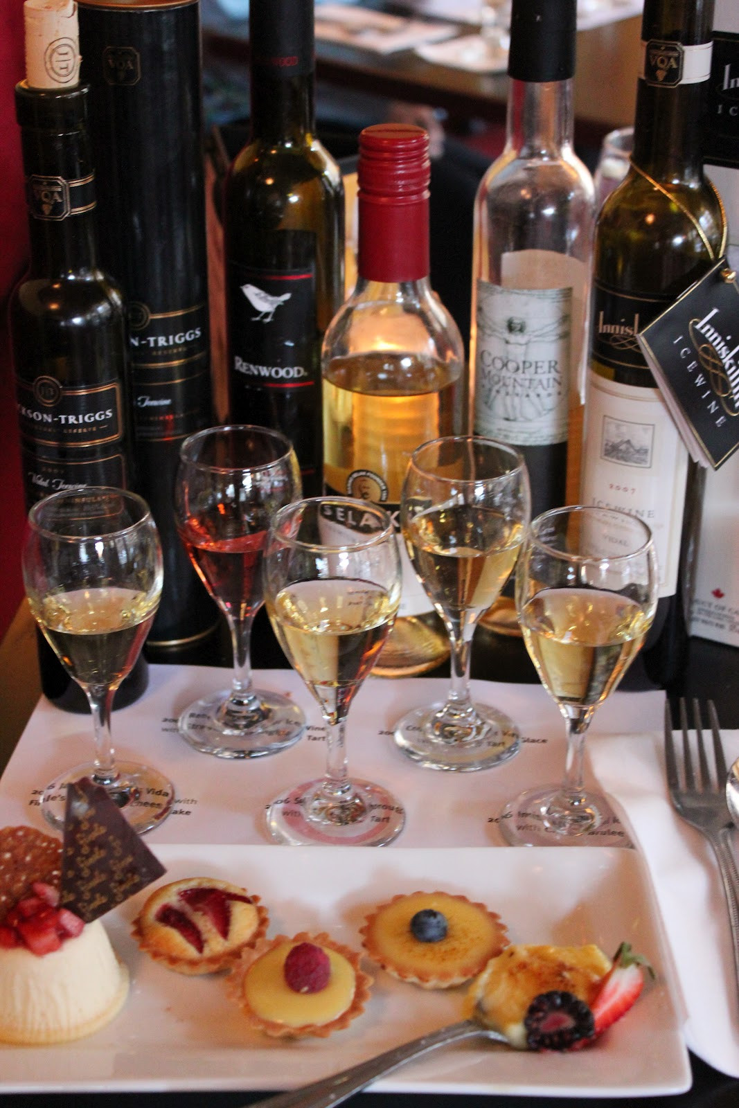 Wine And Dessert  Chelsea s Choice Ice Wines and Seasonal Desserts at Finale