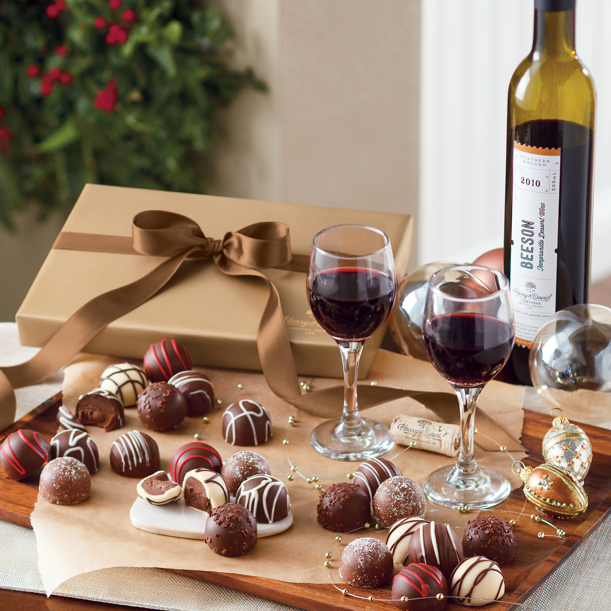 Wine And Dessert  Harry And David Gift Baskets