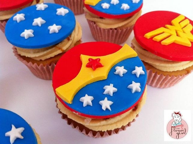Wonder Woman Cupcakes  Wonder Woman Cupcakes Cake Ideas and Designs