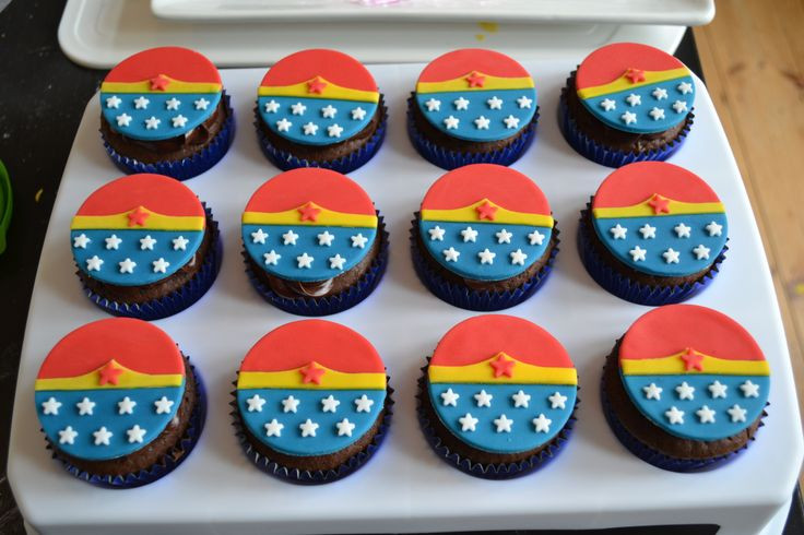 Wonder Woman Cupcakes  Wonder Woman Cupcakes cake design and ideas