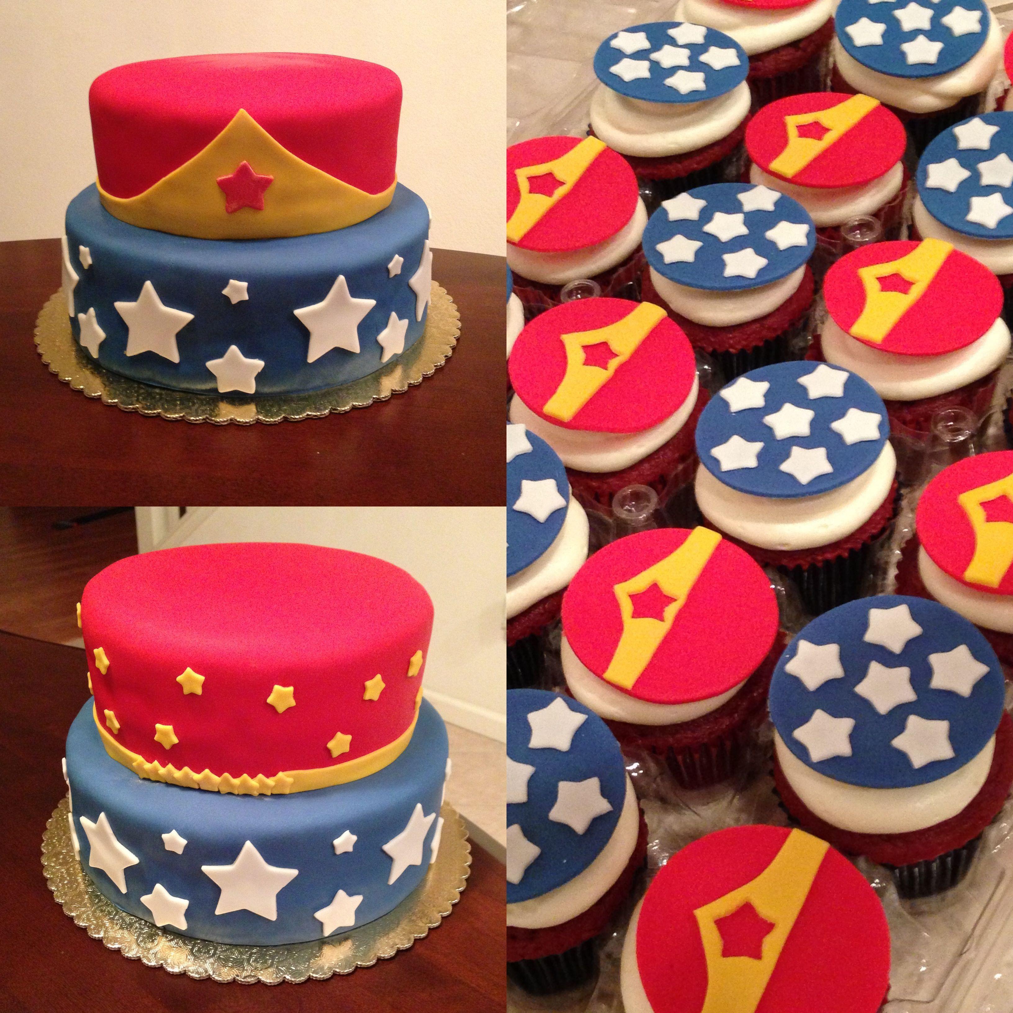 Wonder Woman Cupcakes  Wonder Woman cake & cupcakes by