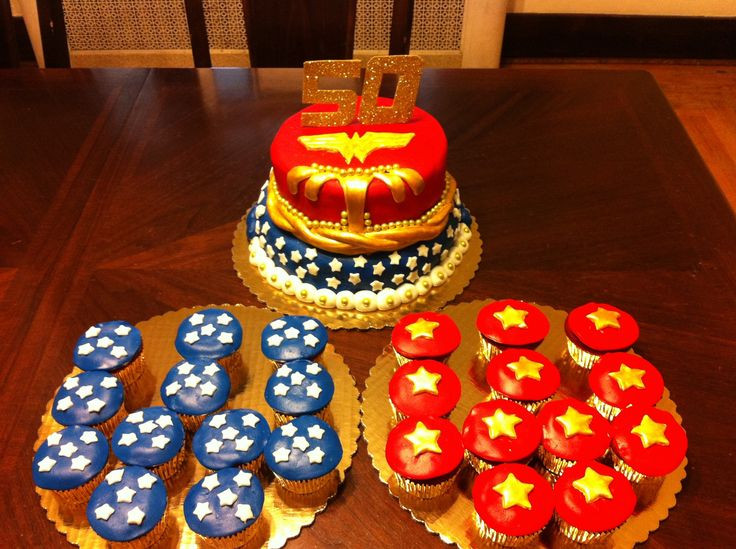 Wonder Woman Cupcakes  Wonder Woman cake cupcakes party ideas