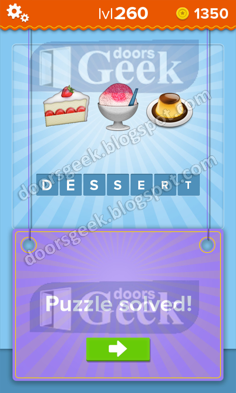 Wordbrain 2 Sweets And Desserts  EmojiNation [Level 260] Answer Doors Geek