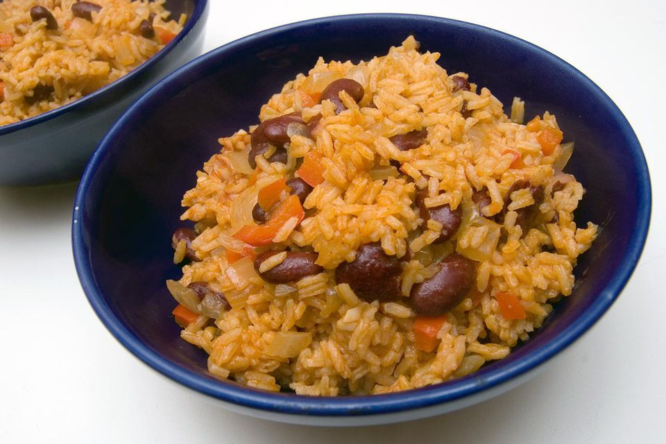 Yellow Rice And Beans  Caribbean Yellow Rice and Pink Beans Recipe