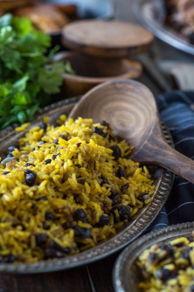 Yellow Rice And Beans  Yellow Rice and Beans • Go Go Go Gourmet