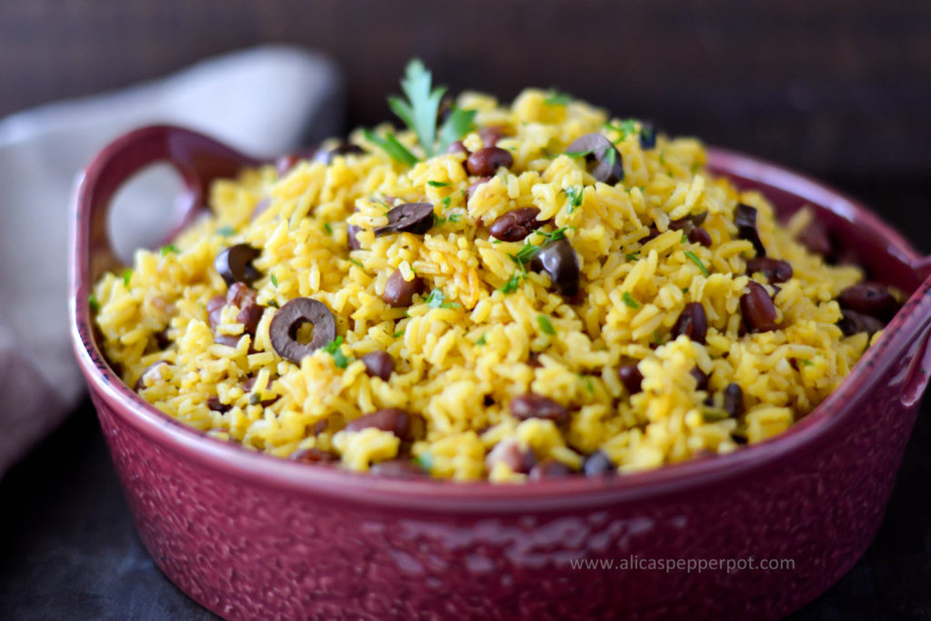 Yellow Rice And Beans  Side Dish Yellow Rice & Beans Alica s Pepperpot