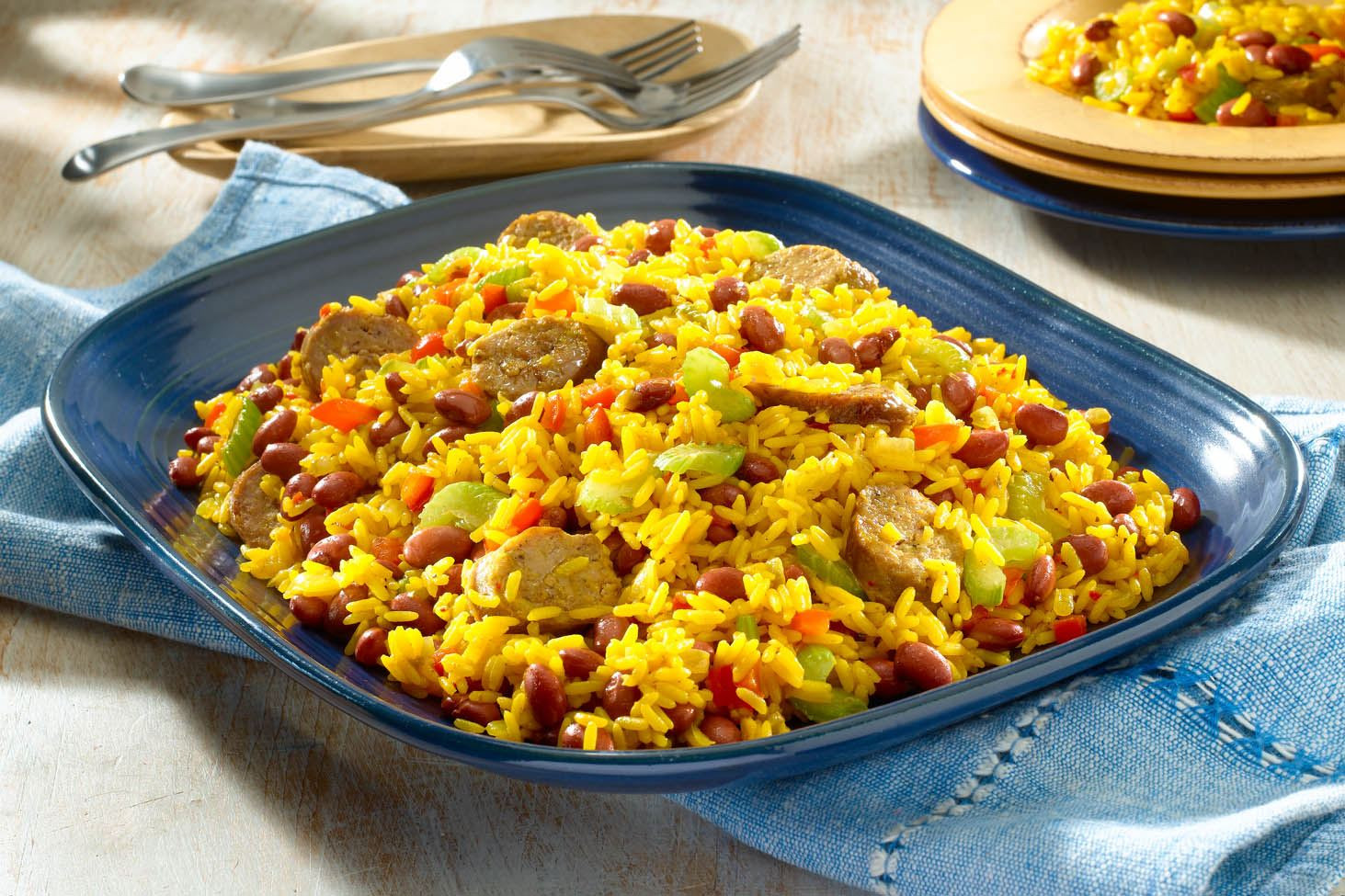 Yellow Rice And Beans  spanish rice and beans