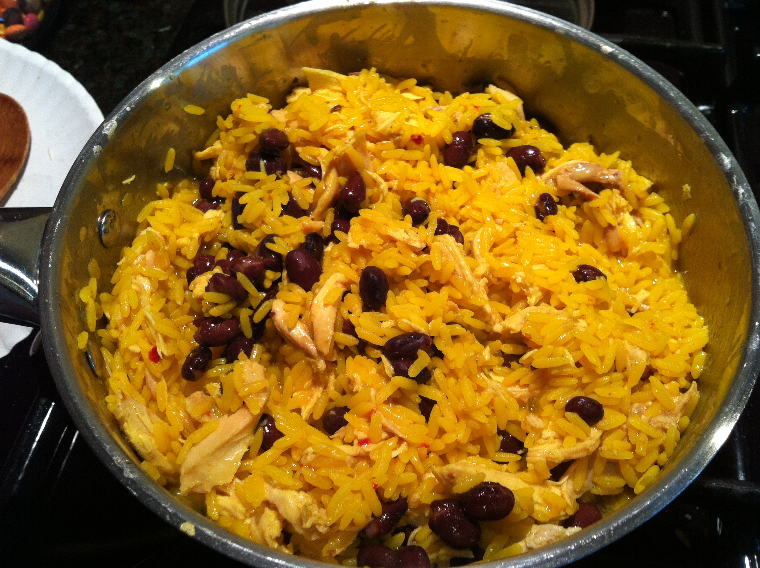 Yellow Rice And Beans  Yellow Rice Chicken & Black Beans