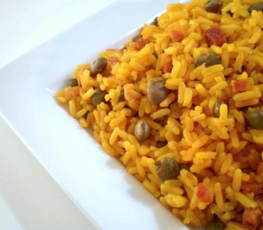 Yellow Rice And Beans  Taste and Tell Recipes Arroz con Gandules Yellow Rice