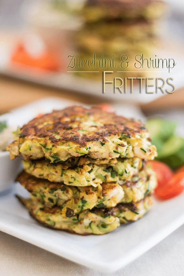 Zucchini Fritters Paleo  Paleo Zucchini and Shrimp Fritter