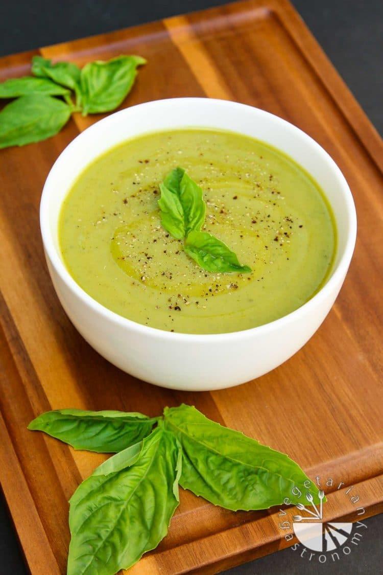 Zucchini Soup Recipe  Velvety Zucchini Basil Soup Ve arian Gastronomy