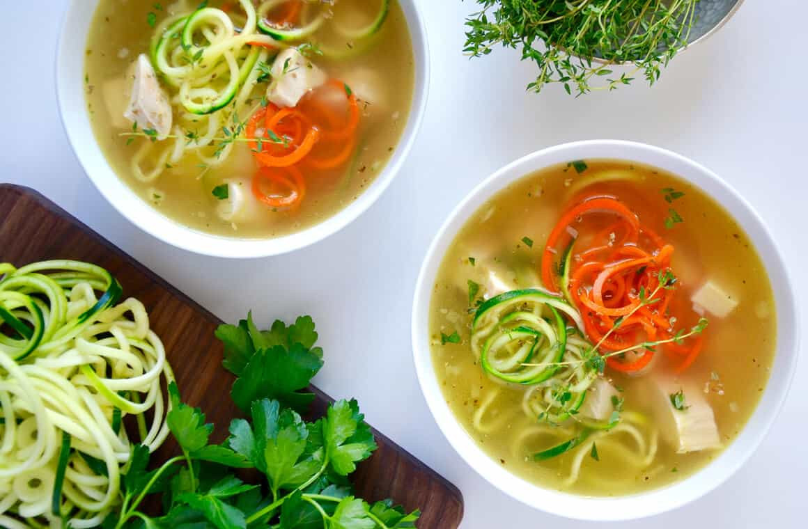 Zucchini Soup Recipe  Zucchini Noodle Chicken Soup