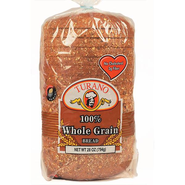 100% Whole Grain Bread  Whole Grain Turano Baking Co