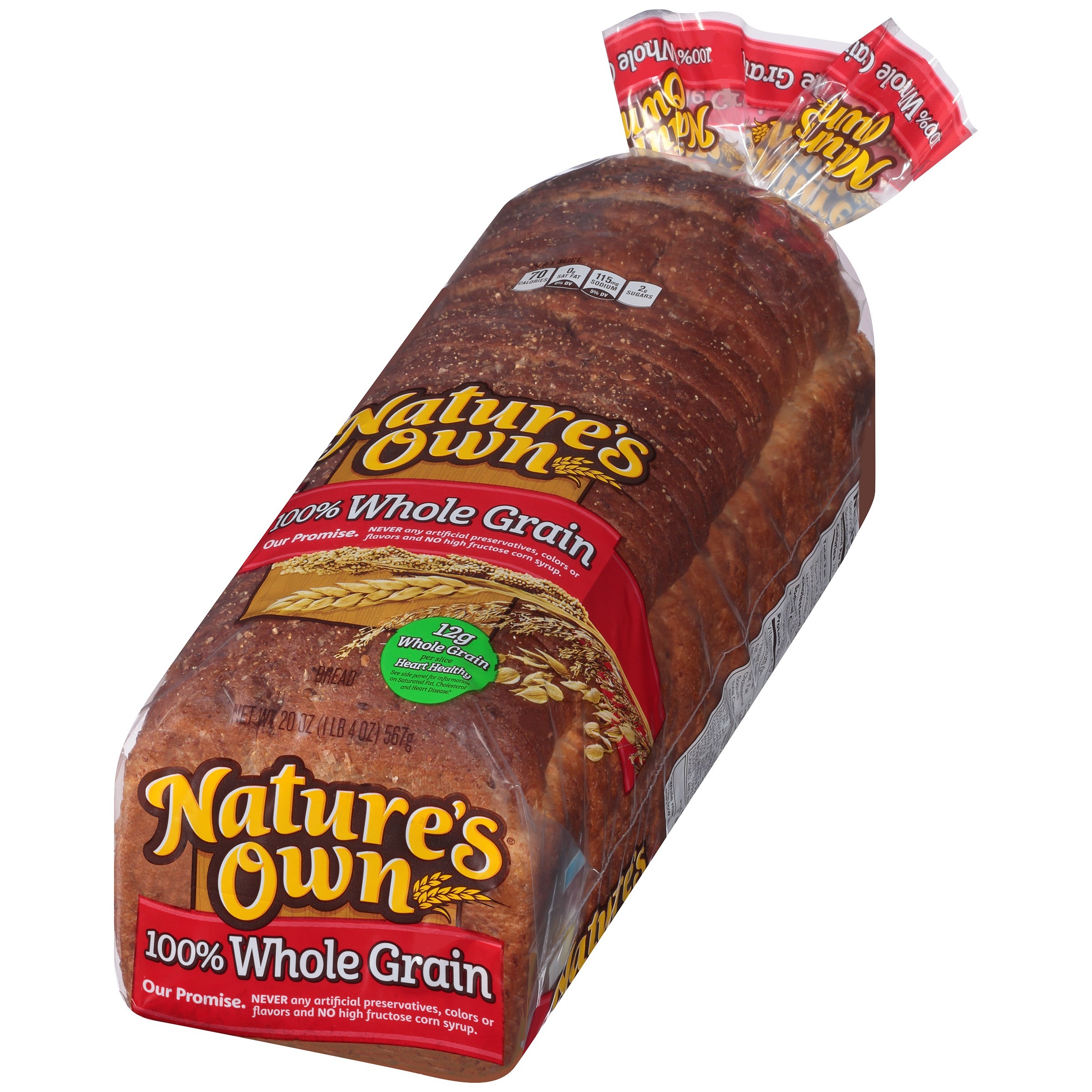 100% Whole Grain Bread  Nature S Own Whole Wheat Bread Nutrition Facts – Besto Blog