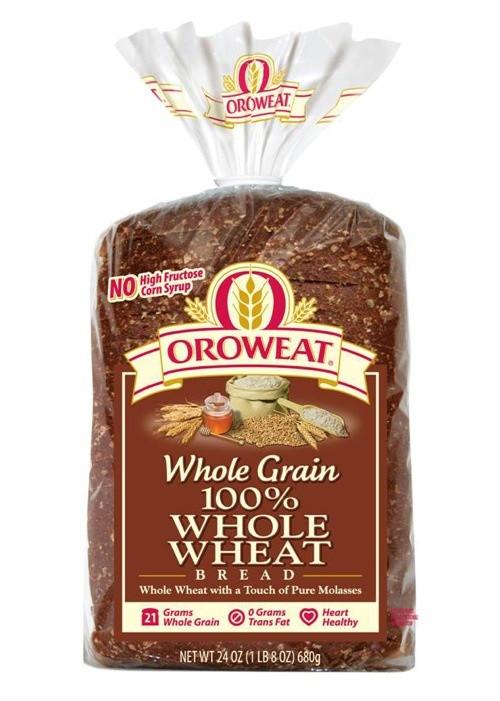 100% Whole Grain Bread  oroweat whole grain bread