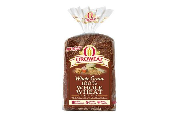 100% Whole Grain Bread  Decoding Labels Oroweat Whole Wheat Bread