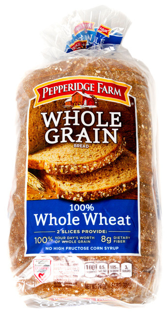 100% Whole Grain Bread  Pepperidge Farm Bread Whole Grain Whole Wheat