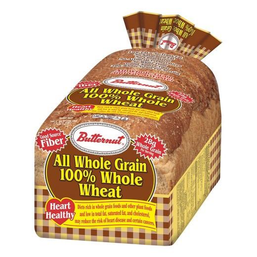 100% Whole Grain Bread  Butternut Whole Wheat Bread 20 oz Tar