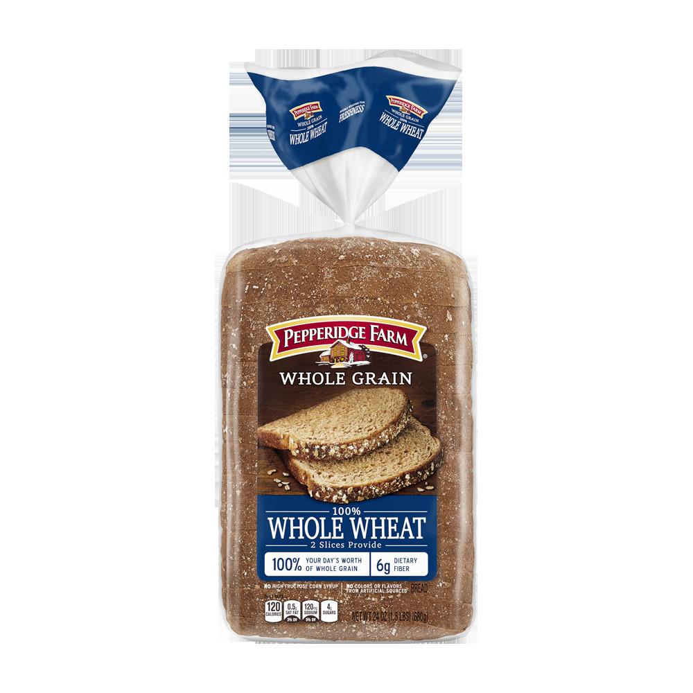100% Whole Grain Bread  Pepperidge Farm 100 Whole Wheat Bread Nutrition Facts