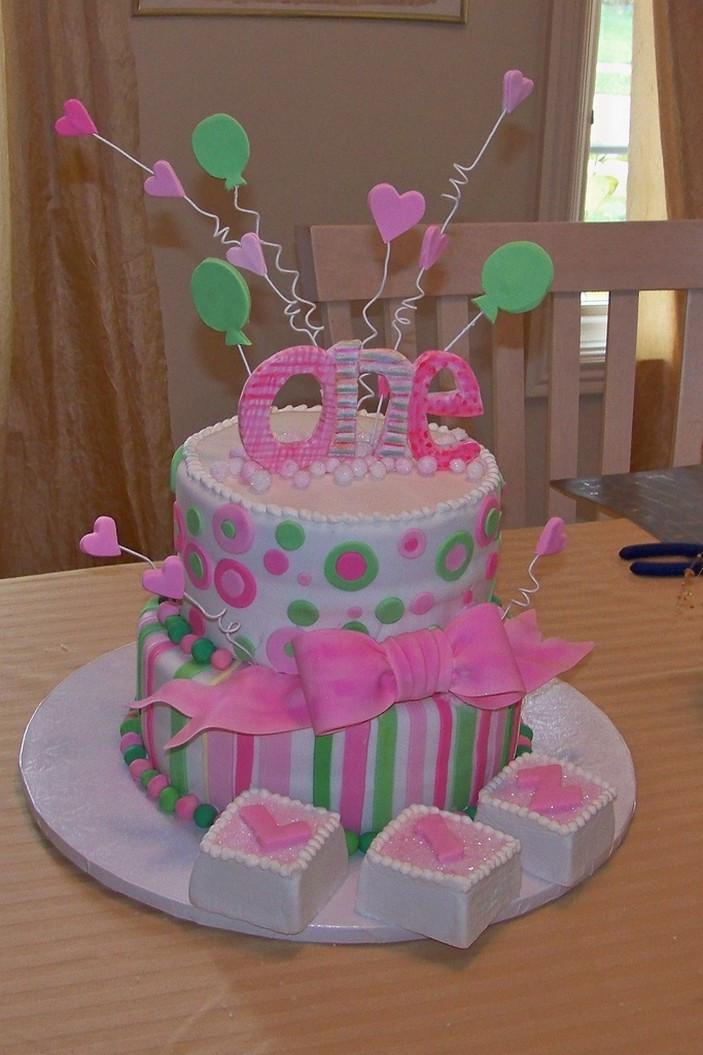 1St Birthday Cake  Two Tier Mad Hatter Cake Design 1st Birthday Cake Idea