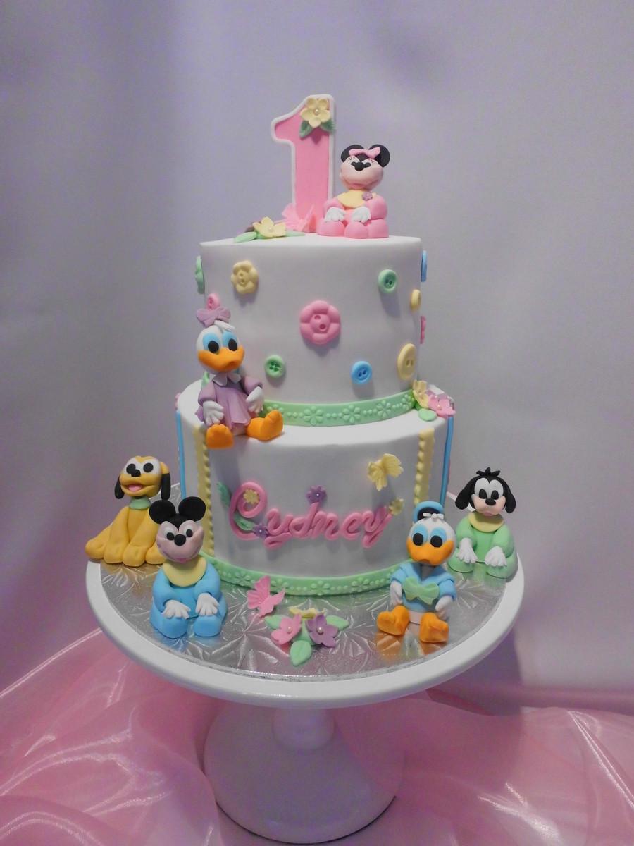1St Birthday Cake  Disney Babies First Birthday Cake CakeCentral