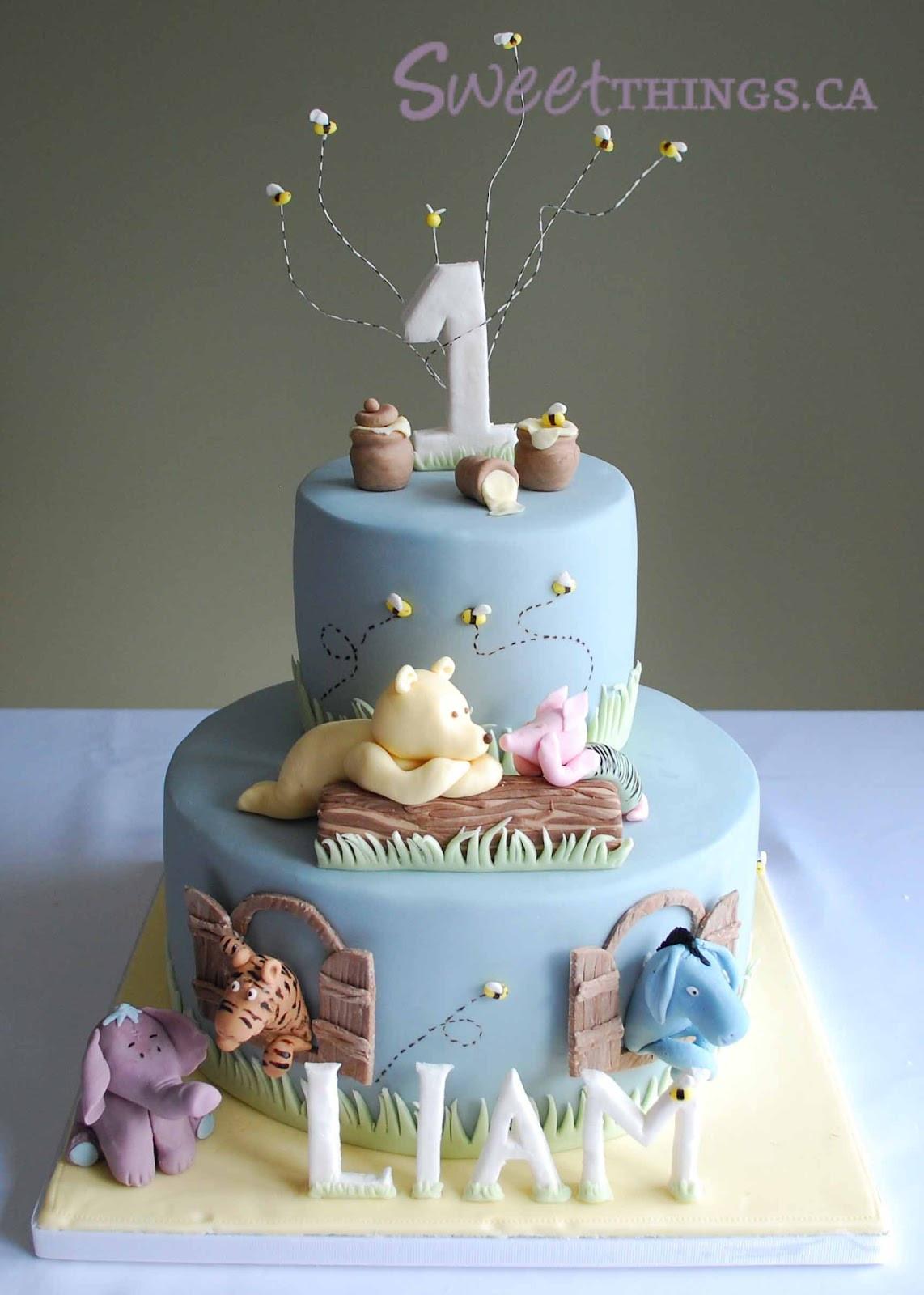 1St Birthday Cake  SweetThings 1st Birthday Classic Winnie the Pooh Cake