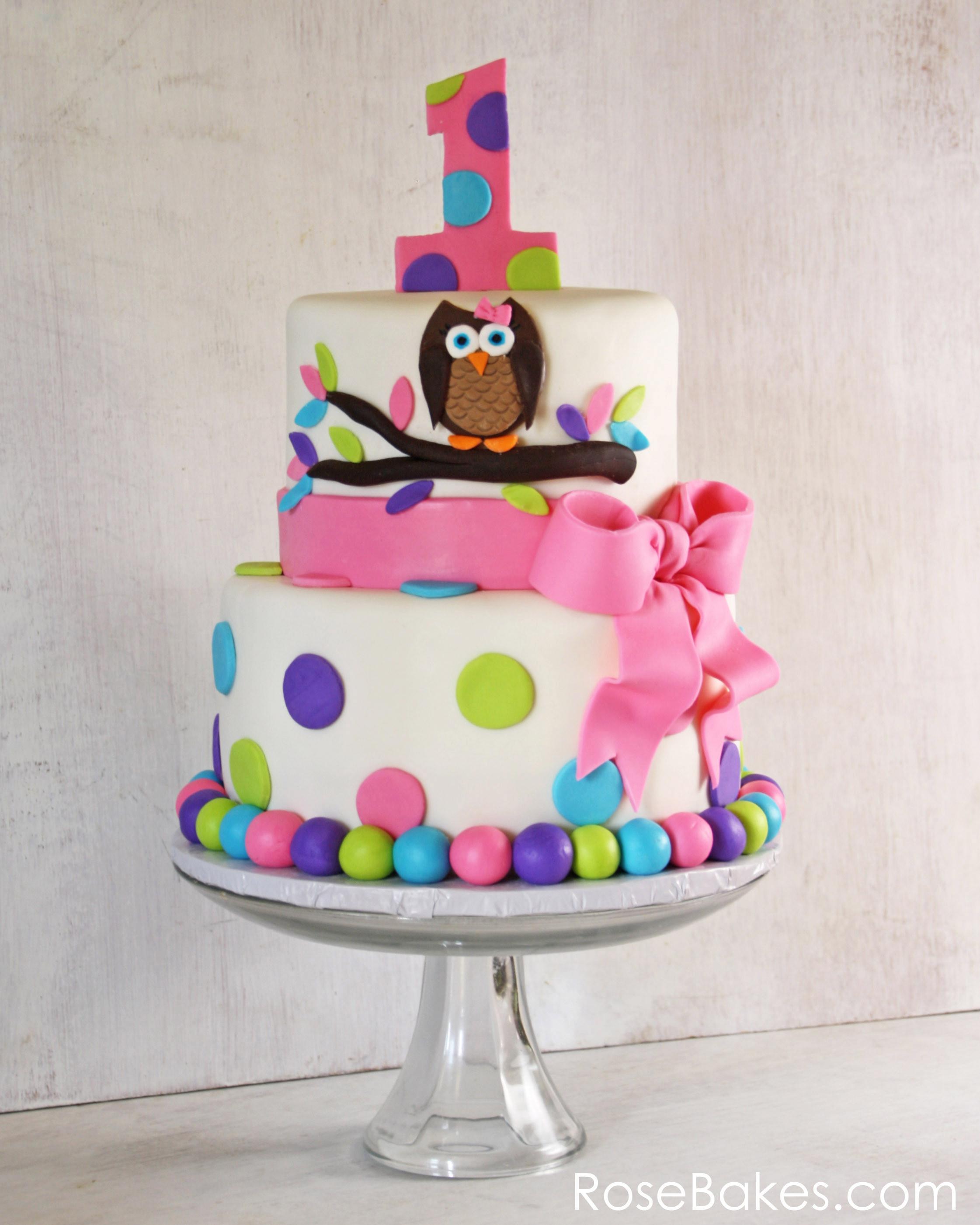 1St Birthday Cake  Owl Cake for Twins 1st Birthday Smash Cakes