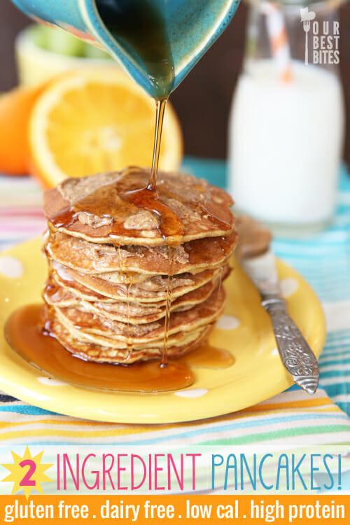 2 Ingredient Banana Pancakes  2 Ingre nt Pancakes Our Best Bites