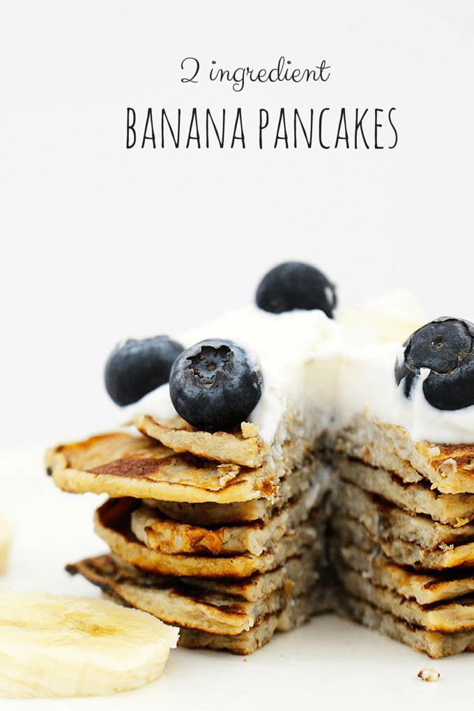 2 Ingredient Banana Pancakes  Banana Pancakes 2 ingre nts great for baby led weaning