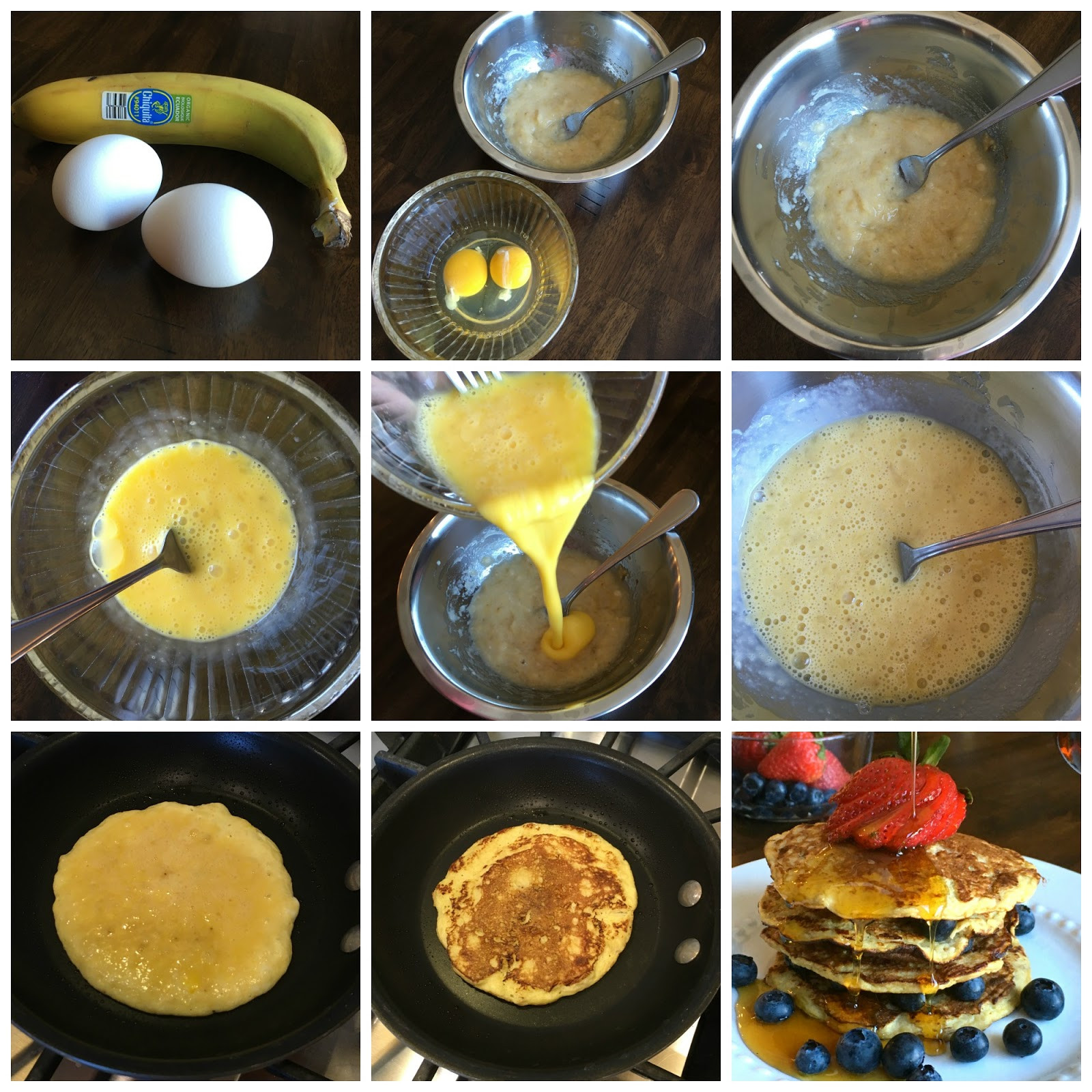 2 Ingredient Banana Pancakes  2 Ingre nt Banana Pancakes Sweet Little Bluebird