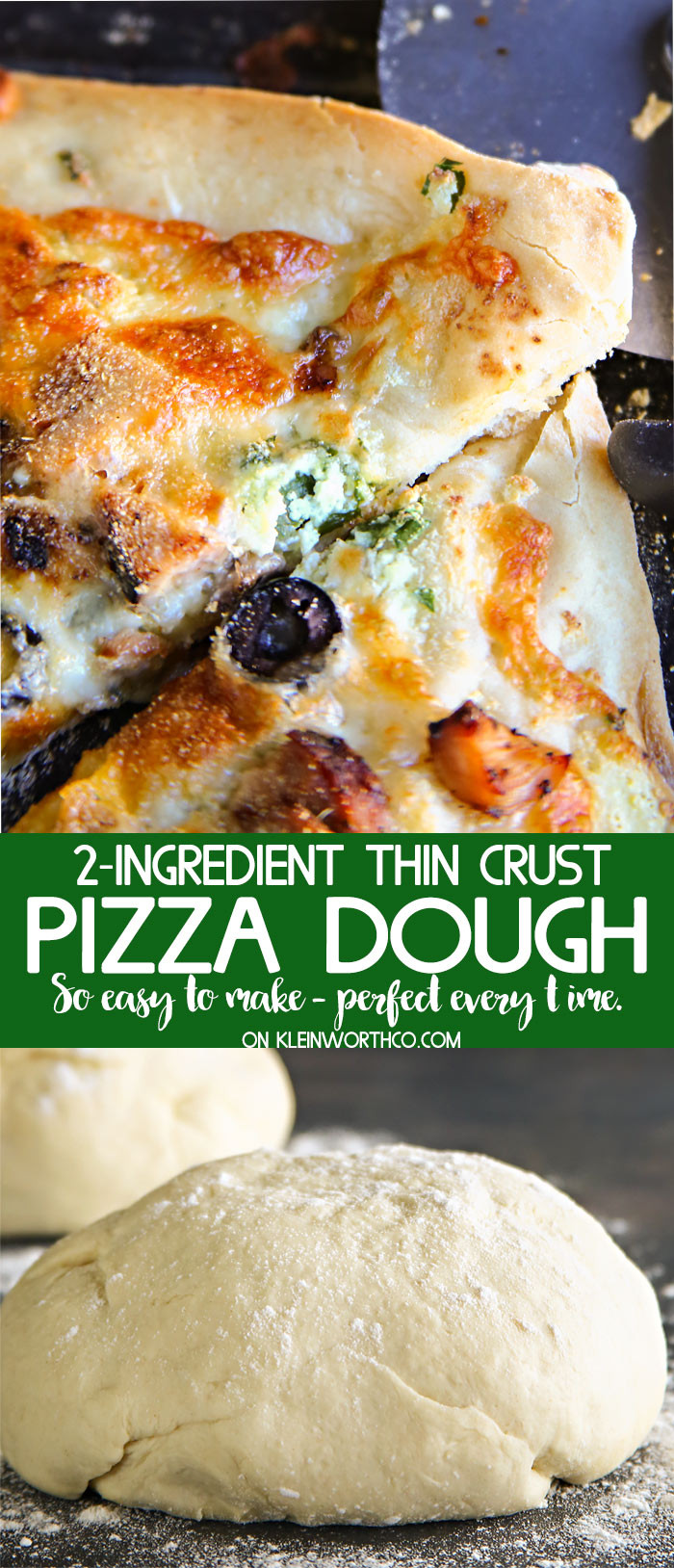 2 Ingredient Pizza Dough  Easy 2 Ingre nt Pizza Dough Kleinworth & Co