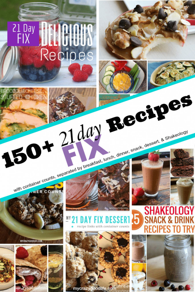21 Day Fix Dessert Recipes  150 Clean Eating 21 Day Fix Recipes separated by