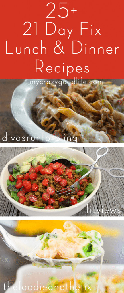 21 Day Fix Dinner Idea  21 Day Fix Lunch and Dinner Recipes