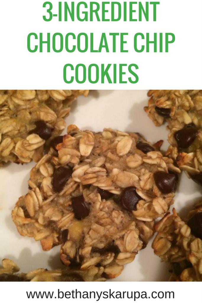 3 Ingredient Chocolate Chip Cookies  Blog Bethany Skarupa
