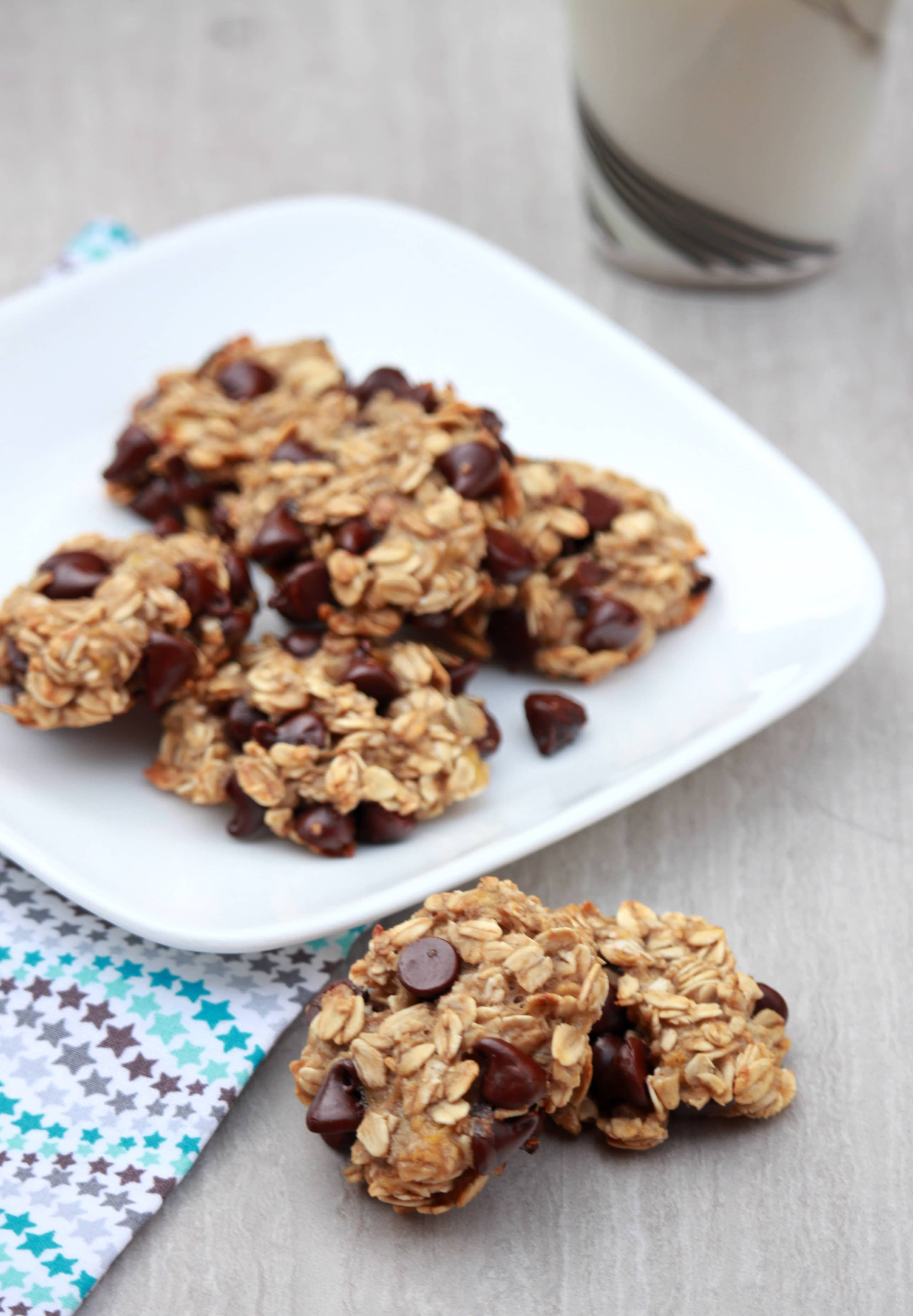 3 Ingredient Chocolate Chip Cookies  3 Ingre nt Banana Oatmeal Chocolate Chip Cookies My