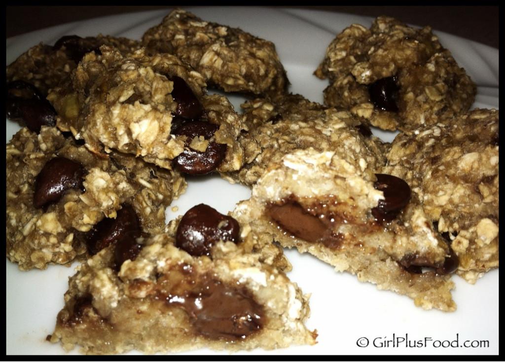 3 Ingredient Chocolate Chip Cookies  Three Ingre nt Banana Oatmeal Chocolate Chip Cookies