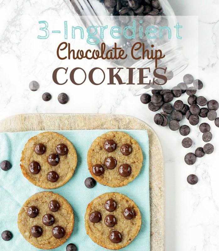 3 Ingredient Chocolate Chip Cookies  3 Ingre nt Chocolate Chip Cookies The Petite Cook