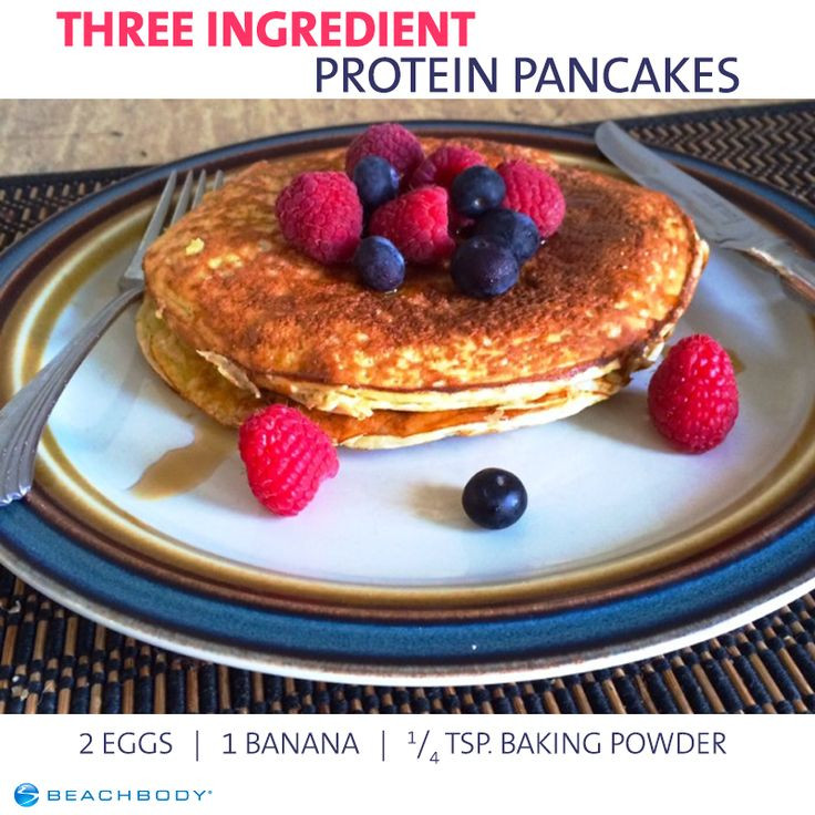 3 Ingredient Protein Pancakes  17 Best images about Quick & Easy Healthy Recipes on