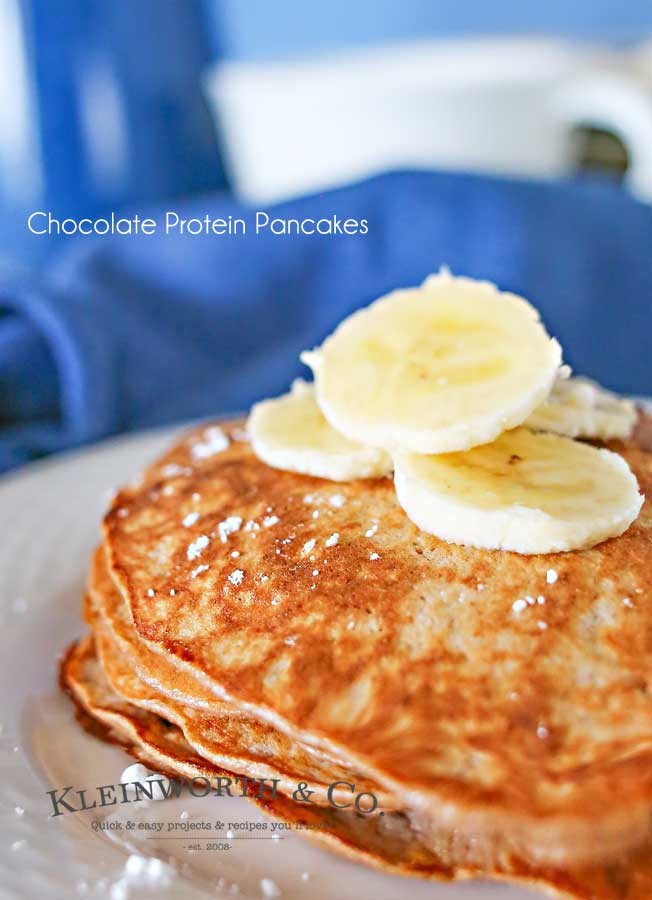 3 Ingredient Protein Pancakes  3 Ingre nt Chocolate Protein Pancakes Kleinworth & Co