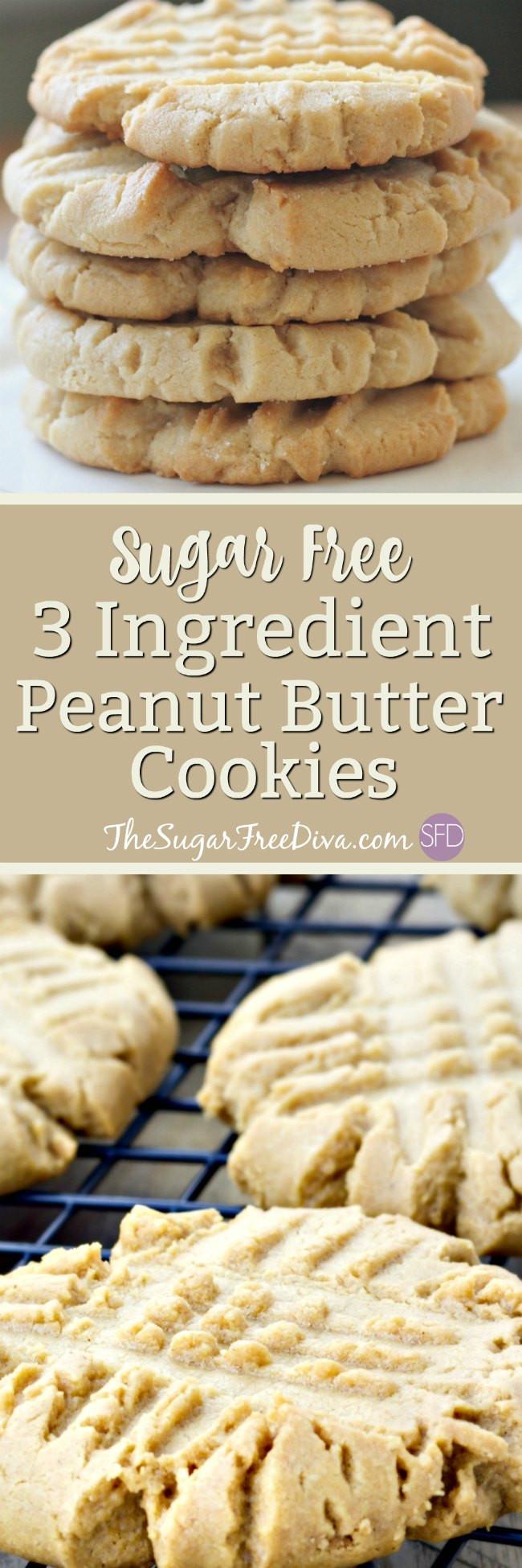 3 Ingredient Sugar Cookies  3 Ingre nt Sugar Free Peanut Butter Cookies