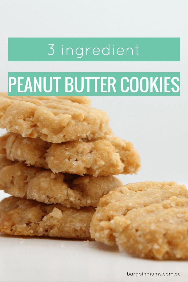 3 Ingredient Sugar Cookies  3 Ingre nt Peanut Cookies