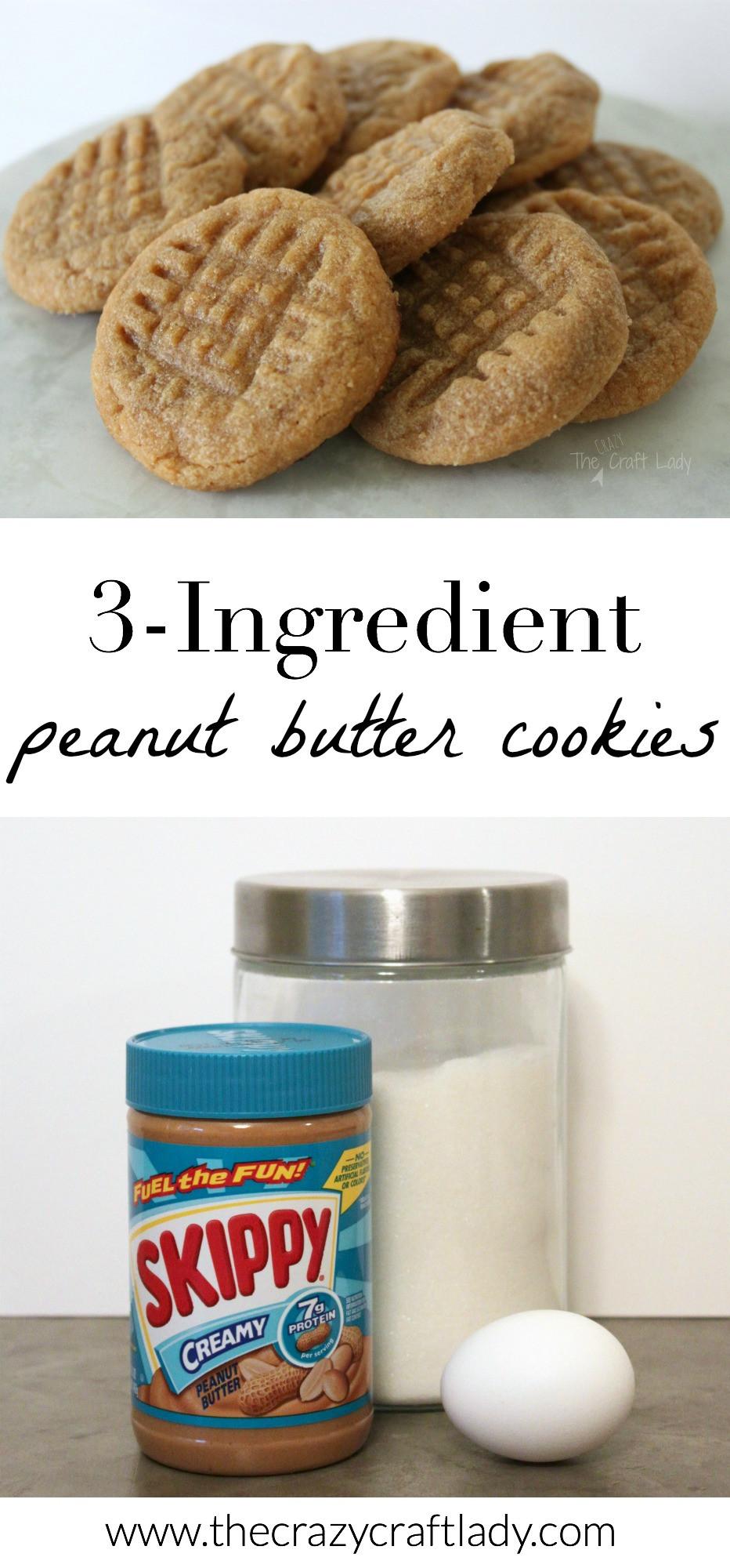3 Ingredient Sugar Cookies  3 Ingre nt Peanut Butter Cookies [the easiest cookies