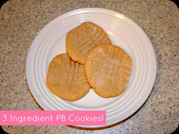 3 Ingredient Sugar Cookies  easy 3 ingre nt peanut butter cookie recipe momspark