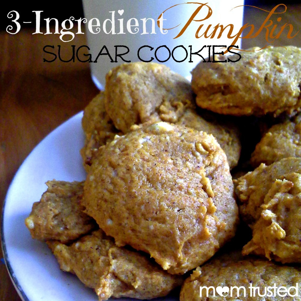 3 Ingredient Sugar Cookies  3 Ingre nt Pumpkin Sugar Cookies